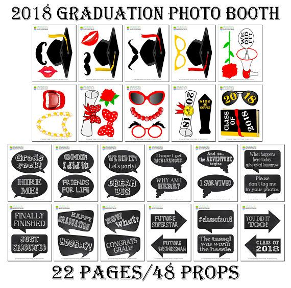 photograph regarding Graduation Photo Booth Props Printable identify PRINTABLE Commencement Image Booth Props 20182018 Commencement