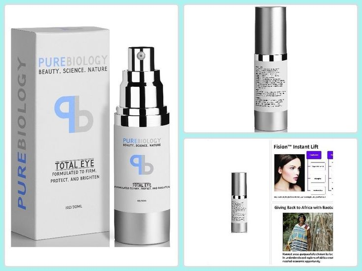 Pure Biology Anti Aging Eye Cream Total Eye Infused W/ Instant Lift Tech Non GMO #PureBiology