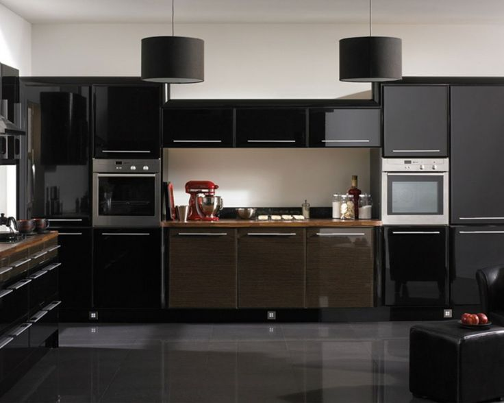Black Laminate Kitchen Cabinets