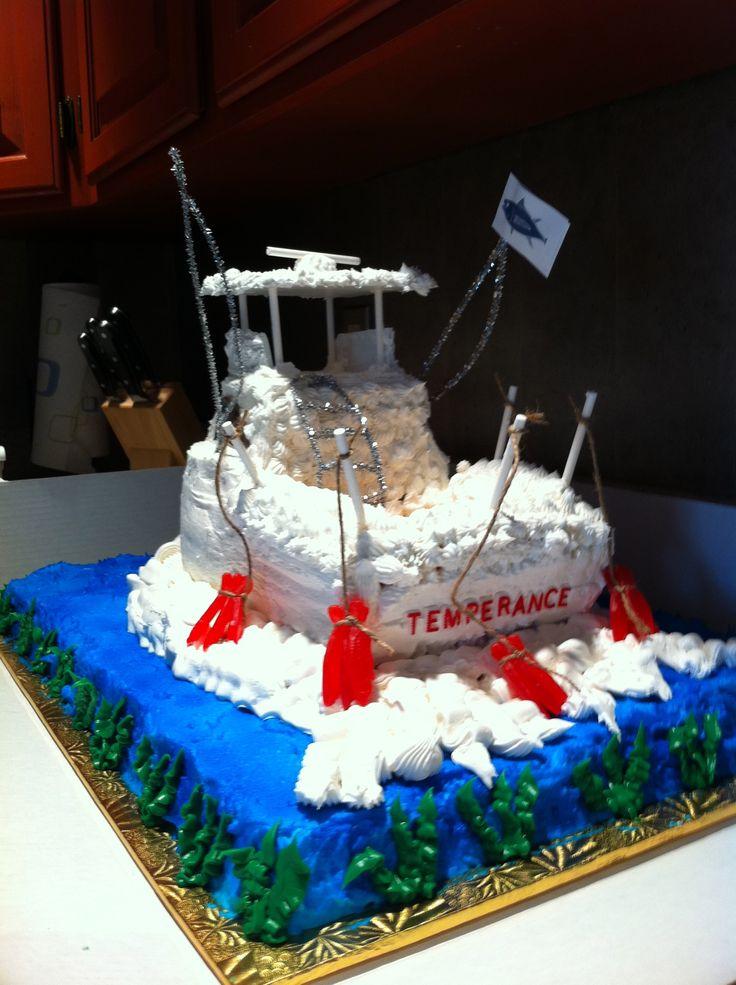 Best Jerrys Birthday Cake Images On Pinterest Fishing Cakes - Fishing boat birthday cake