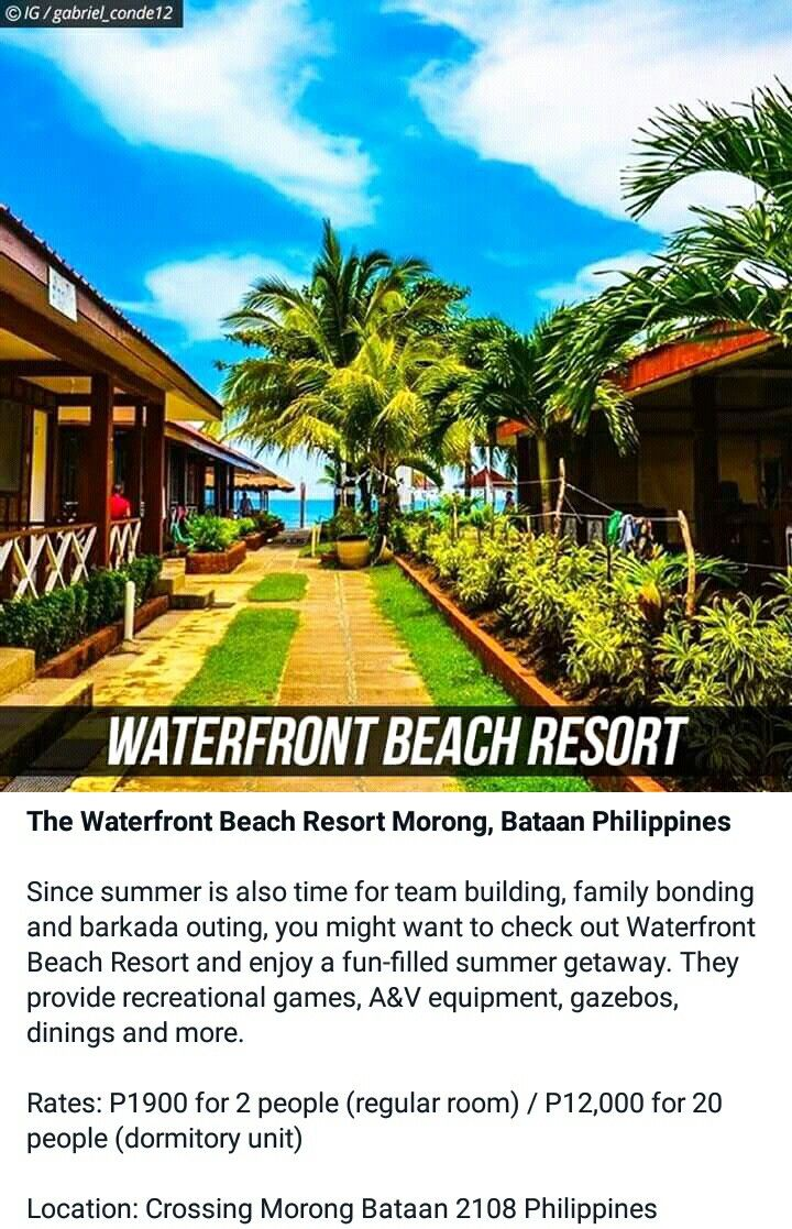 Waterfront Beach Resort Morong, Bataan | It's more fun in the PHILIPPINES |  Pinterest | Bataan, Beach resorts and Philippines
