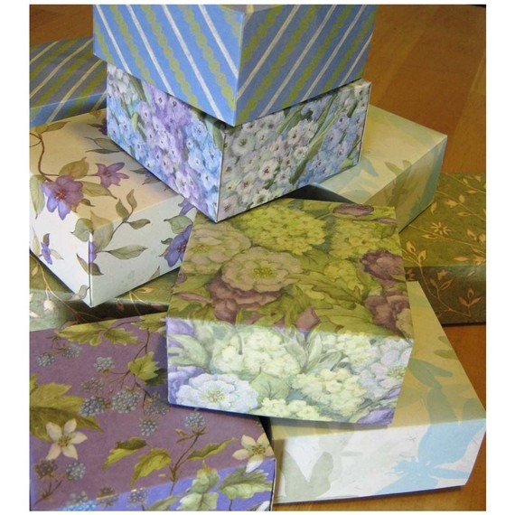 Dragonflies And Blossoms - Gift Boxes. $22.00, via Etsy.