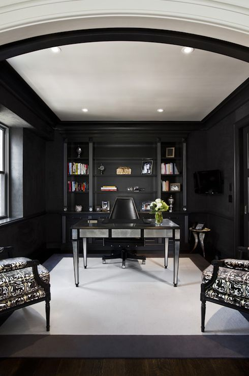 17 Best Ideas About Black Office On Pinterest Black