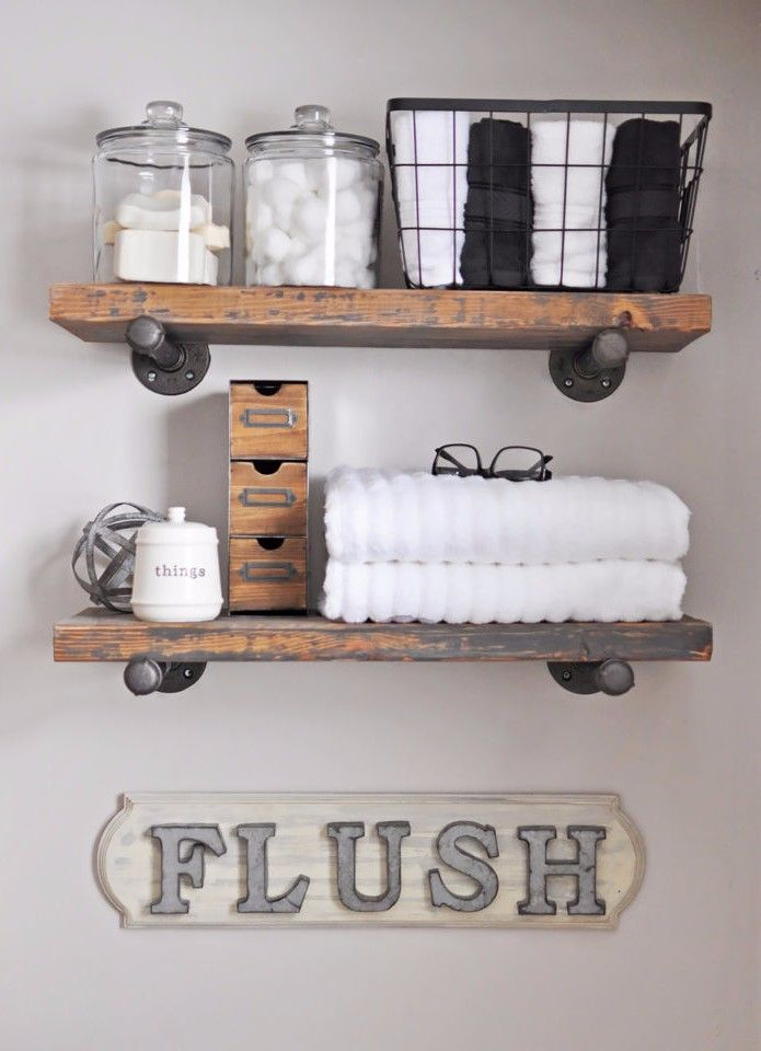 Floating Shelves Bathroom Decor : Best vintage bathroom decor ideas on