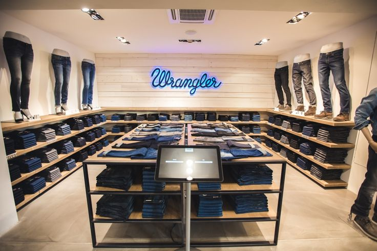 "WRANGLER,Berlin,Germany, ""Wrangler presents new store design"", pinned by Ton van der Veer"