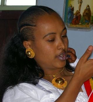 The hair style of the Tigraian women, shows the beauty and skill of the people of Tigrai.