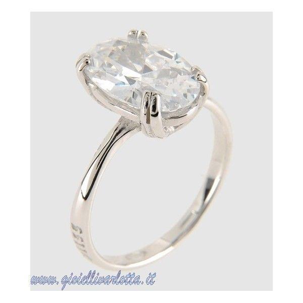 Bliss Anello solitario con pietra ovale Princess in argento 3133600 Misura 18
