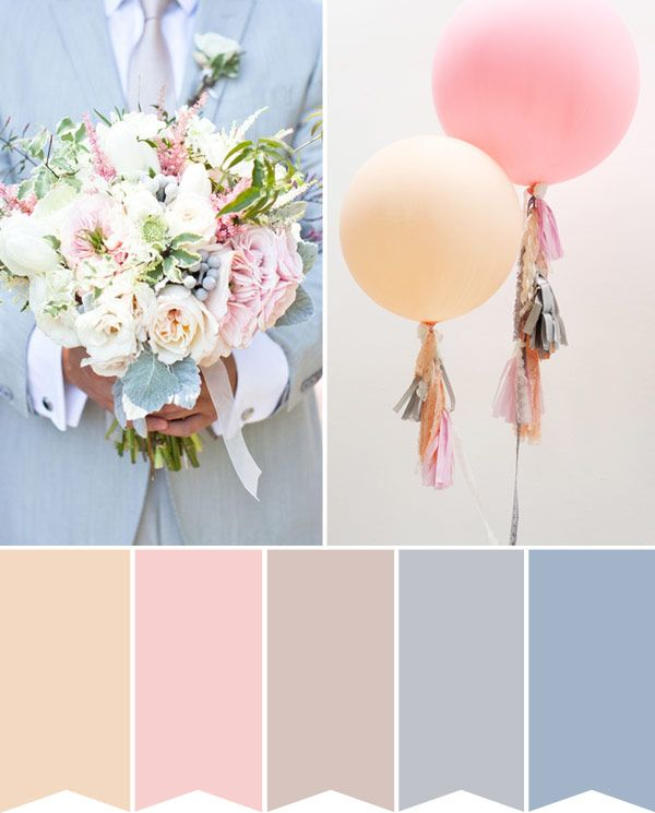 Wedding Colour Palette: Pastel Perfection | onefabday.com #wedding