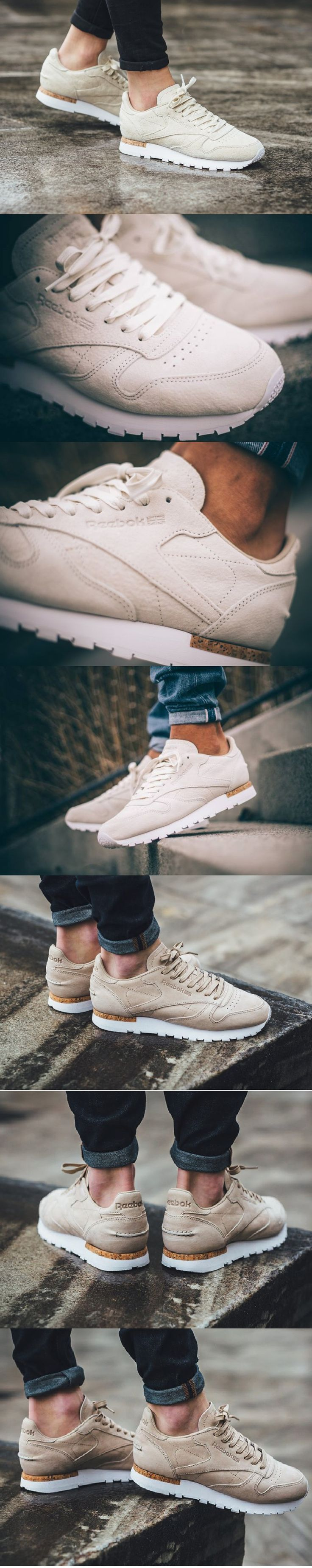 #Reebok #Classic #Leather #LST #Suede #White & #Oatmeal