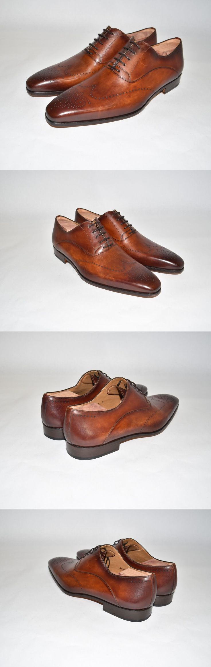 Men Shoes: New!! Magnanni Agusto Wingtip Brown Leather Men S Shoes Size 11 M -> BUY IT NOW ONLY: $190 on eBay!