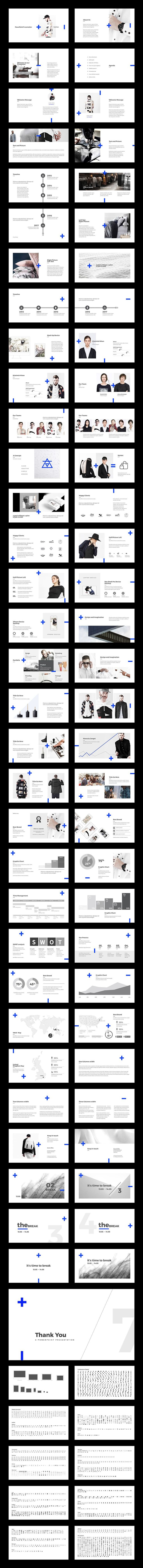 Fashion Minimal PowerPoint by BOXKAYU on @creativemarket