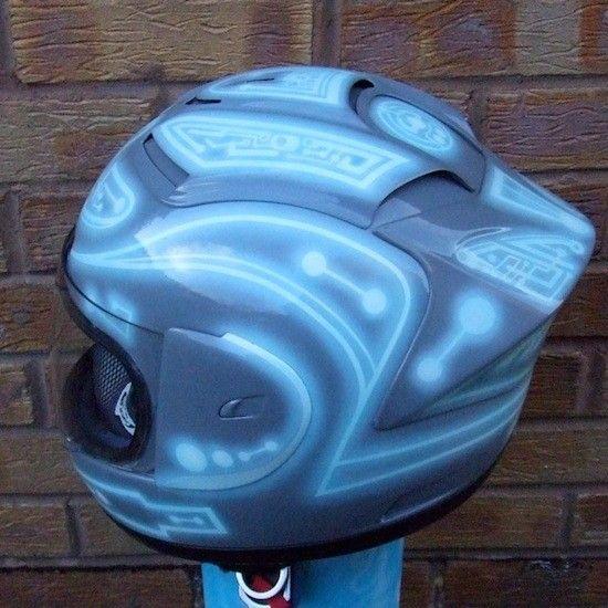 Tron Motorcycle helmet [][][]