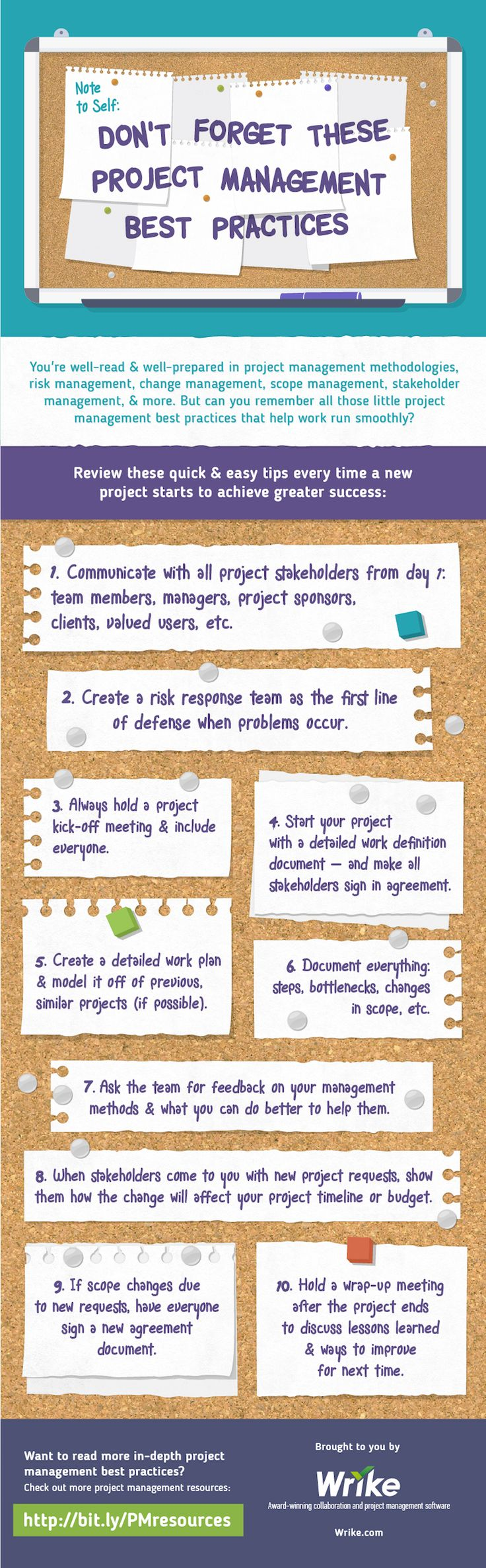 Make every project more efficient & more successful by reading these daily management reminders. (#infographic)