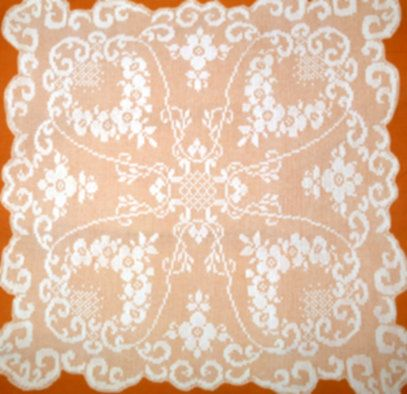 Filet Crochet Pattern Tablecloth Square Doily Houseware Chart Carr Pdf Instant Download Niatta