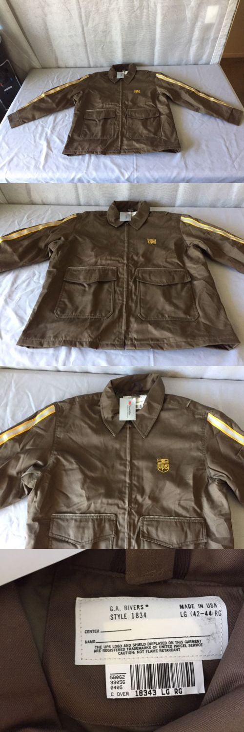 Jackets and Vests 175629: United Parcel Service Ups Sz Large 3M Thinsulate Work Coat -> BUY IT NOW ONLY: $50 on eBay!