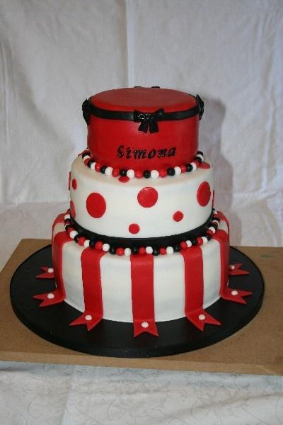 #Torta compleanno #Torta rossa nera bianca #Red white black cake #