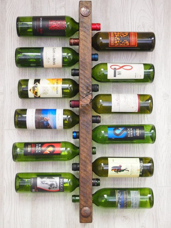 Wine Rack 12 Bottle High Capacity by VetrinaDelVino on Etsy