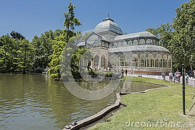 Palacio de Cristal in Parque del Retiro, in Madrid, Spain. Europe
