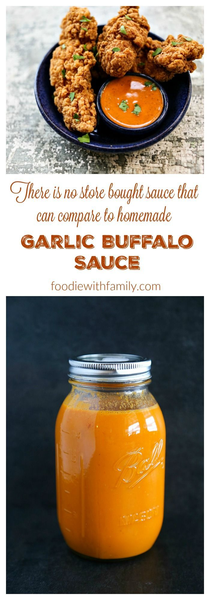 Garlic Buffalo Sauce Recipe because homemade is infinitely better than store bought! (Garlic Butter Wings)