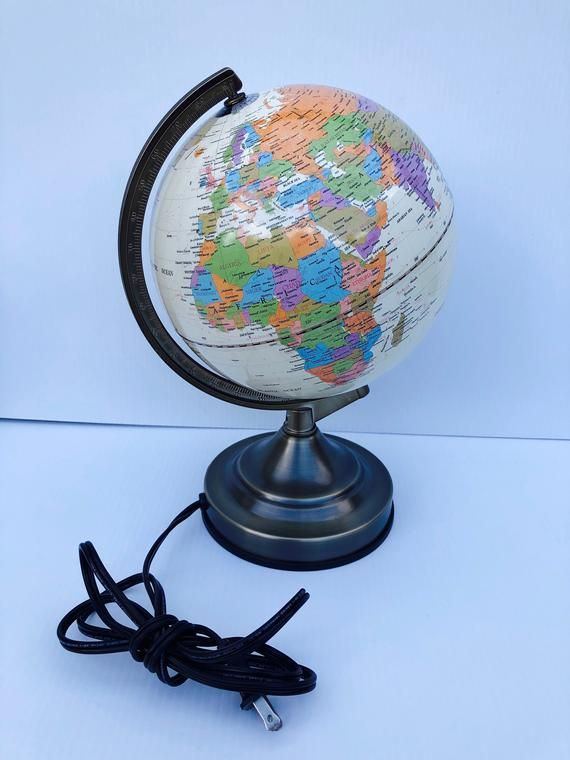 Vintage Fucashun Globe Light Ul Portable Luminaire Table Etsy Globe Lights Globe Lamps Vintage Globe