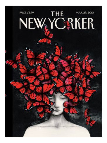 Another Ana Juan cover i love...celebrating the life and death of Alexander McQueen...i miss him still...and forever...march 2010