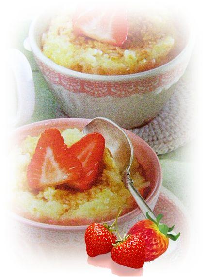Zapiekany ryż z truskawkami