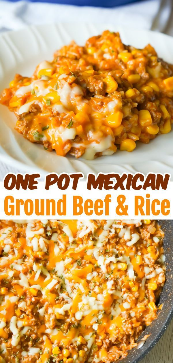 Ground Beef Recipes 37954 One Pot Mexican Ground Beef And Rice Is A Stove Top Di Barba In 2020 Dinner With Ground Beef Top Dinner Recipes Ground Beef Recipes Easy