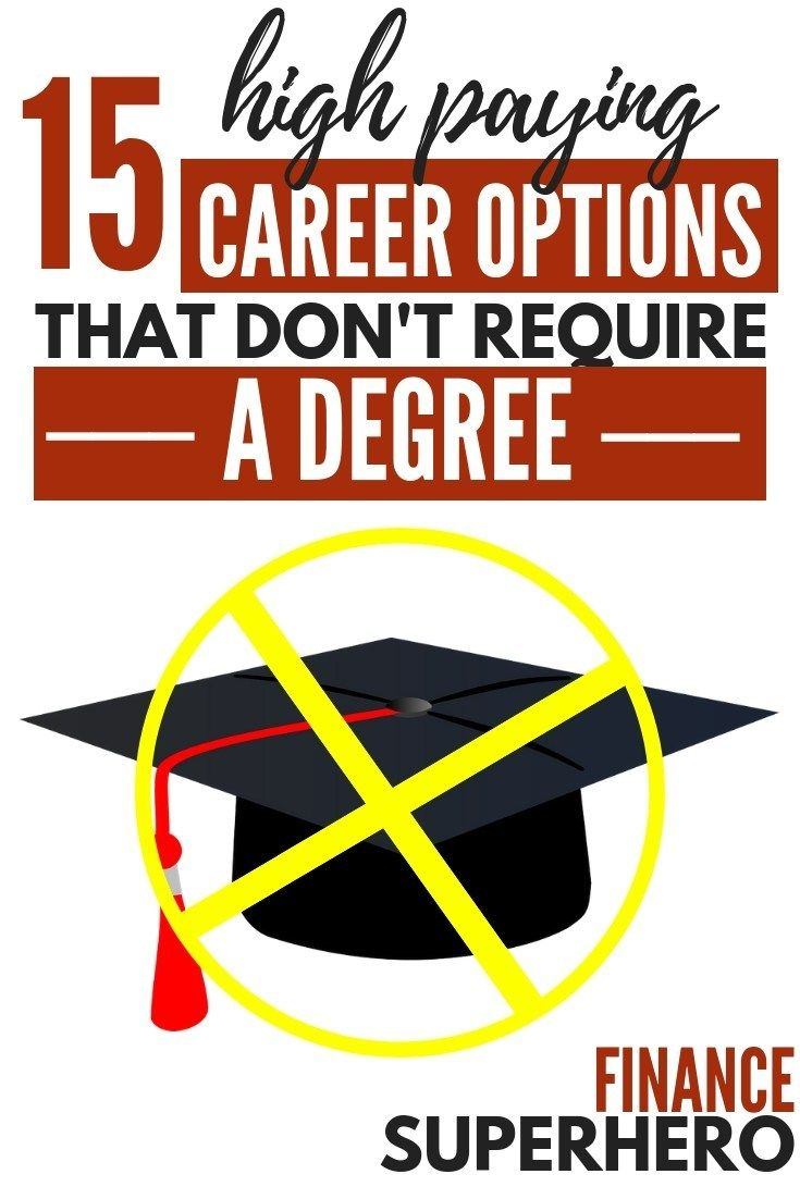 15 Of The Best Careers That Don T Require A Degree Finance Superhero Good Paying Jobs Jobs Without A Degree Careers Without A Degree