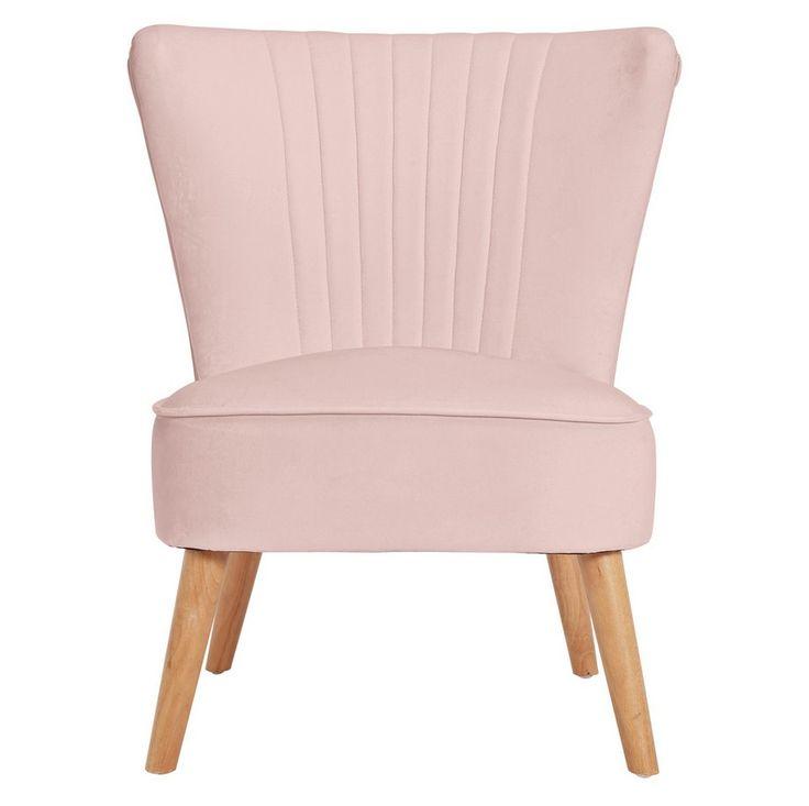 Buy habitat alana velvet shell back accent chair dusty