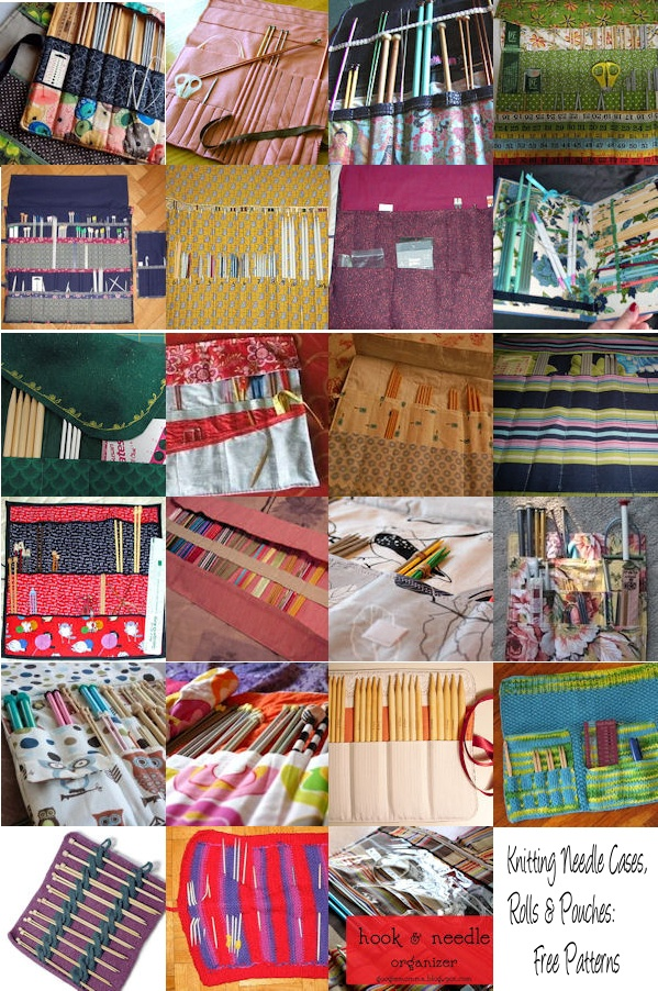 Knitting Needle Cases, Rolls & Pouches: {Free Patterns}