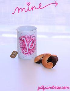 mug personnalisé initiales
