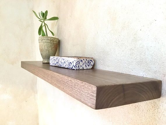 Floating Shelves Wood Solid Timber Tasmanian Blackwood Kitchen