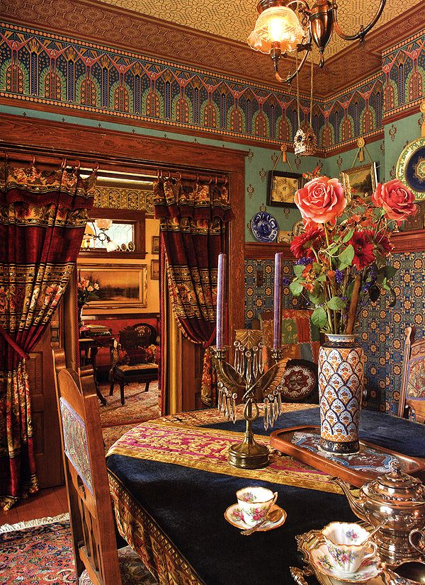 Aesthetic movement style aesthetic movement pinterest for Dining room ideas bohemian