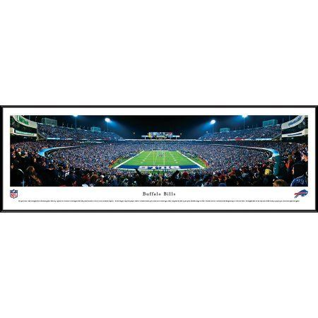 Buffalo Bills - End Zone at Ralph Wilson Stadium - Blakeway Panoramas NFL Print with Standard Frame