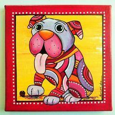 Tabella d & # 039; un grande, cane amichevole & quot; Kapo & quot;