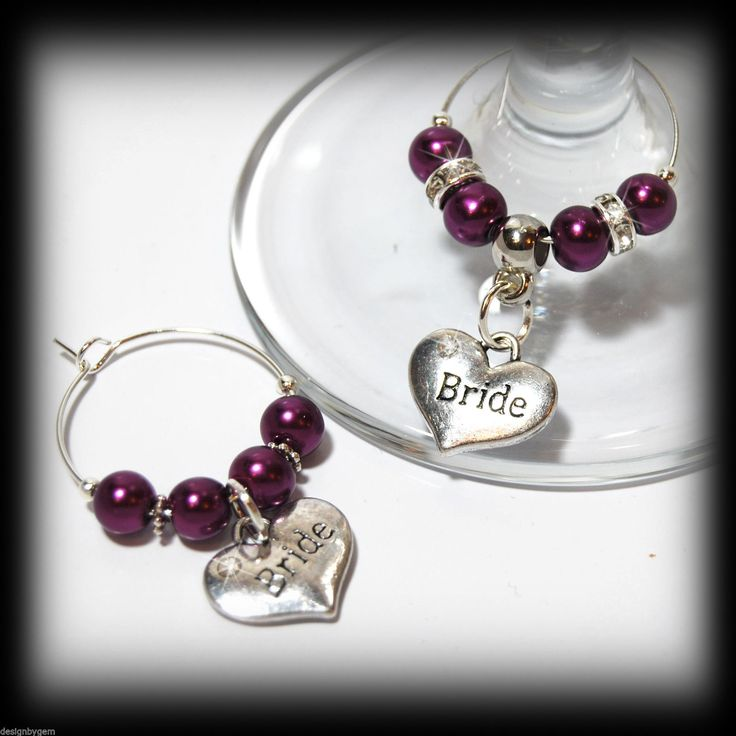 26 best Wedding favours and table decoration wine glass charms ...