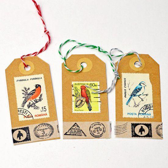 DIY Postage Stamp Tags