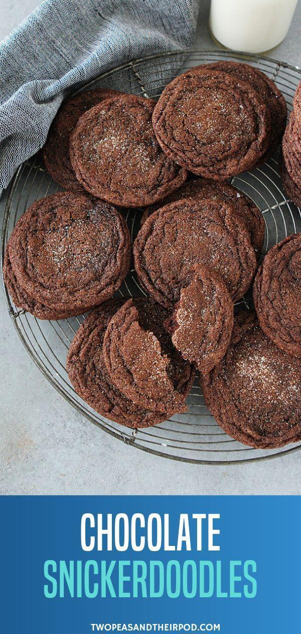 Christmas Cookie Recipe 2020 Chocolate Snickerdoodles in 2020 | Easy christmas cookie recipes