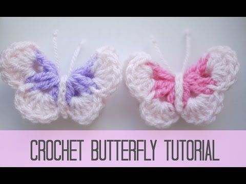 Crochet Butterfly Tutorial Video