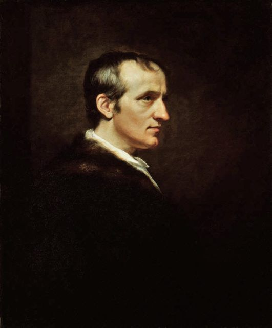 William Godwin in 1802, by James Northcote