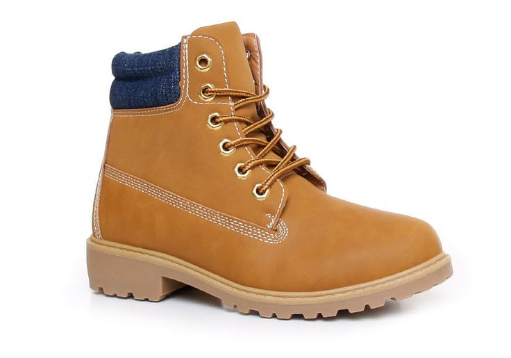 Botki trapery timberki #camel #shoes #boots #trappers #autumn