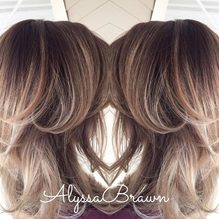dark root, balayage, blonde hair, blondes, shoulder length, layers, soft, brunette, hair, ombre, cool blonde, #cuttingloosect 2016