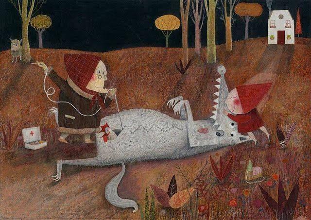 Скифия: Интересное: Вечерняя красная шапочка 26 Испанский иллюстратор Эдуардо Флорес Марко