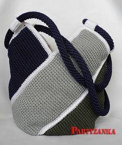 crochet bag Tunisian hook