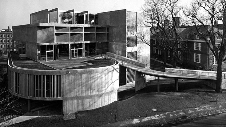Carpenter Center for Visual Arts, Cambridge, Etats-Unis, 1961 - Le Corbusier