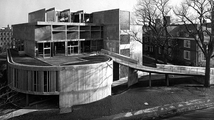 Carpenter Center for Visual Arts, Cambridge, Etats-Unis, 1961 - Le Corbusier