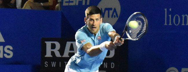 Novak Djokovic sigue adelante en el draw del Abierto Mexicano Telcel 2017, pero da la impresión de que todavía no está adaptado al 100% al clima y la superficie de Acapulco, caso totalmente contrario a Rafael Nadal, que sigue impecable.