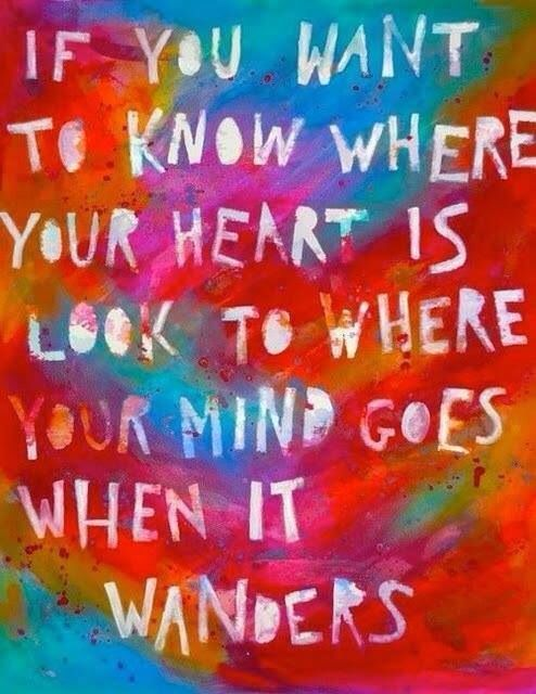 If you want to know where your heart is.....