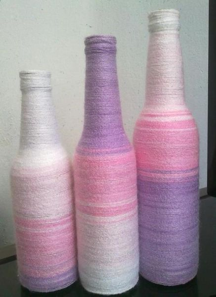 #Bottles but would work well to cover cut wine bottles in #yarn with Easter colors