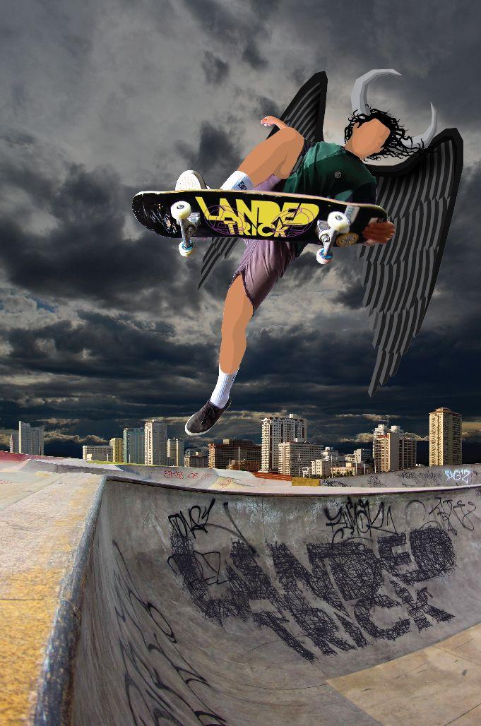 landedtrick illustration by juan carlos graciano